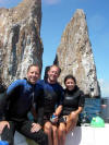The intrepid divers at Kicker Rock